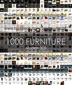 1000 FURNITURE 3D