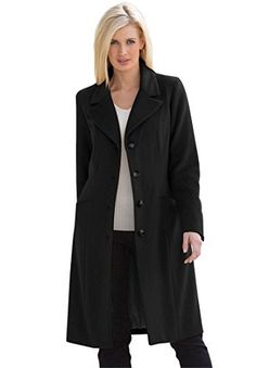 Product review for Jessica London Women's Plus Size Three-Quarter Wool-Blend Coat.  - Plus Size Coats & Jackets by Jessica London. Bring a timeless quality to your look this season with our elegant new plus size three-quarter wool-blend coat. In a classic single-breasted style, this coat will give you a sleek feminine silhouette, and the wool blend will keep you toasty right...