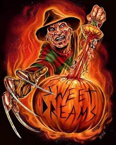 "187 Likes, 3 Comments - CO-Host@KEEPING IT HORROR® (@that_horror_dude74) on Instagram: ""Awesome Freddy Krueger Art @devondraws Perfect for Halloween #happyhalloween #halloween…"""