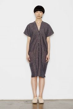 Study NY Kimono Dress in Stripe Linen | Garmentory
