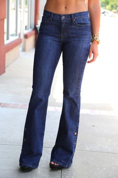 High-Waisted Bell Bottom Jeans