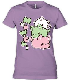 Meowchi will make your day with this lovely lavender tee! This top is soft, cuddly, and 100% adorable.