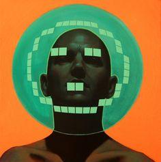 Pintura futurista en technicolor de Alex Kiessling3