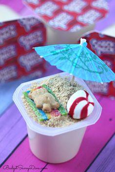 Beach Scene Pudding Cups Recipe | Budget Savvy Diva