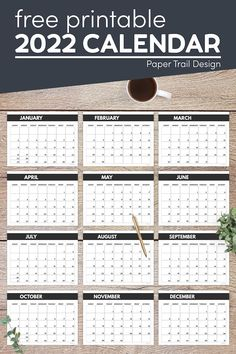 Print these 2022 calendar pages including January, February, March, April, May, June, July, August, September, October, November, and December. Free Printable Calendar Templates, Monthly Calendar Template, Printable Planner Pages, Mini Happy Planner, Paper Trail, Calendar Pages, Happy Birthday Banners, Letters And Numbers, Weekly Planner