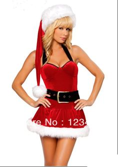 f7f4a9a6030c Free Shipping 2014 New Sweetheart Miss Santa Sexy Adult Women Christmas  Costume $19.99 Santa Costume,