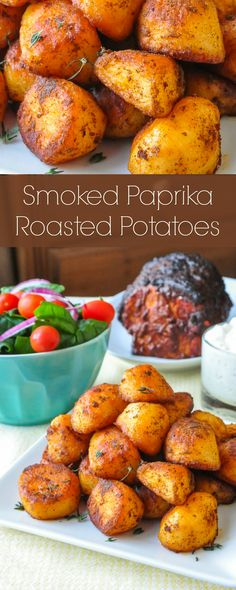 Smoked Paprika Roasted Potatoes - you'll want to serve these roast potatoes with everything from lamb to chicken souvlaki and more. Simple, flavourful and perfectly golden crispy. Delicious with your favourite tzatziki as a dip too.