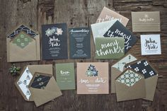 Natural Beauty, succulent invitation set, collection inspired by a love for local + organic foods; by Yours is the Earth #wedding #stationary