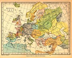 Historical Map of Medieval Europe in the 13th Century Credits University of Texas at Austin. From The Public Schools Historical Atlas edited by C. Colbeck, 1905.
