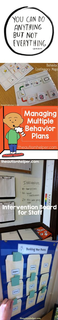 Managing Multiple Behavior Plans at Once - The Autism Helper Classroom Behavior, Autism Classroom, Classroom Rules, Special Education Classroom, Classroom Decor, Behavior Management, Classroom Management, Behavior Plans, Behavior Charts