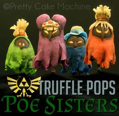 Recipe/Tutorial: Poe Sisters Tea Truffle Pops, in anticipation of #ZeldaMonth!   Pretty Cake Machine