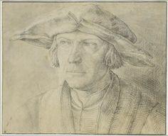 Portrait d'homme, de face, portant un chapeau à larges bords Hugensz, Lucas  © Musée du Louvre, dist. RMN / Martine Beck-Coppola Département des Arts graphiques