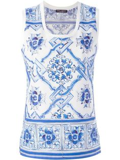Shop Dolce & Gabbana 'Majolica' print tank top in Birba's from the world's best independent boutiques at farfetch.com. Shop 300 boutiques at one address.