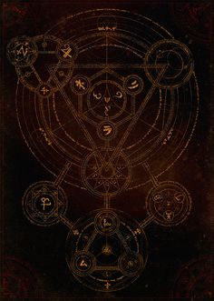 'Sacred Geometry creates the Magic Circle' by Alex Sidorenko Occult Symbols, Magic Symbols, Occult Art, Spell Circle, Arte Sailor Moon, Magic Circle, Book Of Shadows, Cthulhu, Black Magic