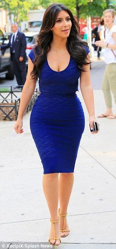 Va-va-voom! The 33-year-old perfectly displayed her famously curvy figure in the skintight outfit, which popped against her golden skin and dark brown tresses