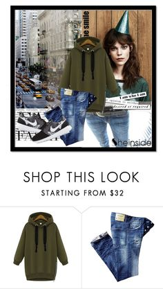 """""""Sheinside contest"""" by dinna-mehic ❤ liked on Polyvore featuring MANGO and NIKE"""
