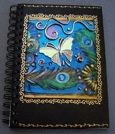 Butterfly and Feathers Art Journal by MandarinMoon, via Flickr