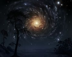 """Fantasy Scenery Night Sky Background 