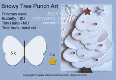 Alexs Creative Corner: Snowy Tree Punch Art Instructions