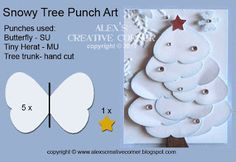 Alexs Creative Corner: Snowy Tree Punch Art Instructions