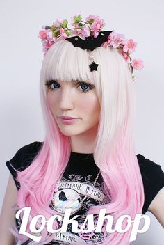 Angelic Platinum to Fade Sweet Lolita Wig by LockshopWigs on Etsy, €29.50