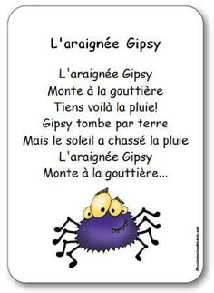 Nursery rhyme for kindergarten, cycle on the theme of Halloween and arai . - Comptine pour enfants maternelle, cycle sur le thème d'Halloween et des arai… Nursery rhyme for kindergarten, cycle on the theme of Halloween and arai …, French Language Lessons, French Lessons, How To Speak French, Learn French, Rhymes For Kindergarten, Father Songs, French Poems, Great Song Lyrics, Bricolage Halloween