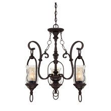 View the Savoy House 1-6720-3 Country / Rustic 3 Light Up Lighting Chandelier with Glass Shades from the Shadwell Collection at LightingDirect.com.