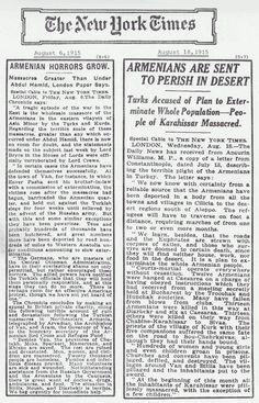 Armenian Genocide news 1915.