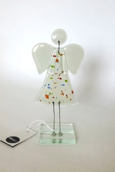 glass fusion souvenir angel unique handmade
