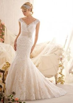 Mori Lee 2608 Lace Fit and Flare Wedding Dress favorite  bridal expressions