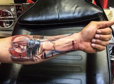 Jesus 3d lower arm tattoo Blacky Blacky's Tattoo Studio-SIMILAR STYLE http://adf.ly/1cGY0Y