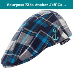 faf6614a Sourpuss Kids Anchor Jeff Cap Plaid Blue Toddler. Keep your little one's  head warm and