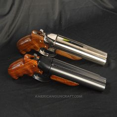 Diablo 12 Gauge Pistols, Nickel and Blued Finish Collectors Set with Rosewood Finish Grips Weapons Guns, Guns And Ammo, Zombie Weapons, Arsenal, Firearms, Shotguns, Revolvers, Derringer Pistol, Custom Guns