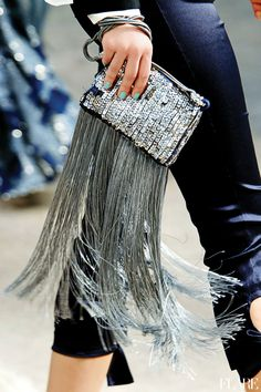 Sparkle fringe handbag (clutch)