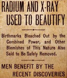 """""""Men benefit by the recent discoveries."""""""