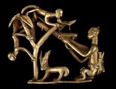Figura del oro, Akan, África, 19 de tarde / principios del siglo 20, Muée del Quai Branly, París