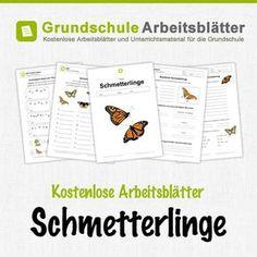 Kostenlose Arbeitsblätter und Unterrichtsmaterial für den Sachunterricht zum Thema Schmetterlinge in der Grundschule.