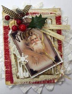 Card: Wish Imagine vintage style Christmas card