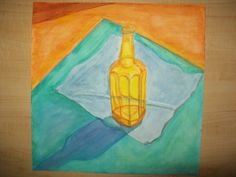 My first watercolor painting. The saturation in the shadow is really nice. I like drawing and painting transparent objects.