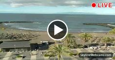 Lovely view of the Playa de Troya #Beach along Costa #Adeje. #Tenerife in live #webcam > #Spain #Travel