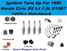 Honda Civic DX Hatchback Spark Plug Wire Set, Oil Air Fuel Filter, PCV Cap Rotor #AftermarketProducts