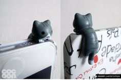 SALE30OFF Cute Crouching Kitten iPhone Plug . iPhone by CocoonByWL, $4.20