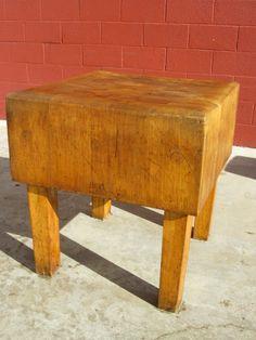 American Antique Butchers Block Antique Cutting Board Antique Kitchen Counter