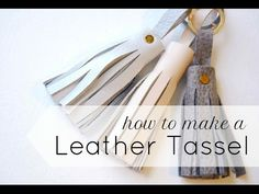 How to make a Faux Leather Tassel Tutorial / Hobby Lobby Haul - YouTube