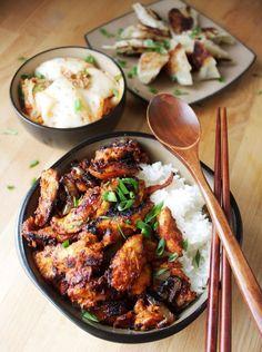 Spicy Korean Chicken - Dakgalbi paleo dinner stir fry #koreanfoodrecipes