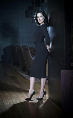 Dita von Teese Looks like our Joanie dress so elegant and classic