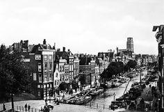 De Delftsevaart in 1890. Dankt zijn naam aan de stad Delft. De Delftsevaart kan men beschouwen als een gedeelte van de vaart 'van Rotterdam naar de Schie', voor het graven waarvan graaf Willem IV op 9 juni 1340 aan Rotterdam vergunning gaf. De foto is van vandeneijk.com en de informatie van het gemeentearchief Rotterdam.