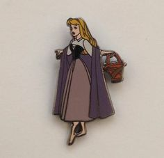 Very RARE Princess Aurora from Sleeping Beauty in Peasant Clothes Disney Pin | eBay