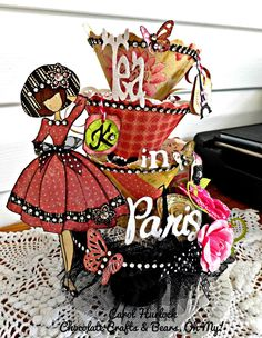 Chocolate Crafts and Bears, Oh My: Tea In Paris Tea Cup Tower with Julie Nutting Prima Stamp