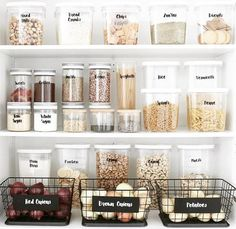 13 Genius pantry organization ideas that will leave you speechless Pantry storage, Kitchen organization, H – Experience Of Pantrys Kitchen Organization Pantry, Home Organisation, Organizing Ideas, Organization Hacks, Organized Pantry, Organising, Pantry Storage Containers, Open Pantry, Pantry Room